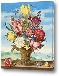 Натюрморт с цветами в Ван-Ли Ваза
