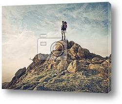 Постер Путешественник на камне