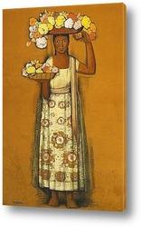 Постер Женщина с цветами