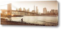 Постер осенний New York