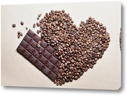 Постер любовь и шоколад