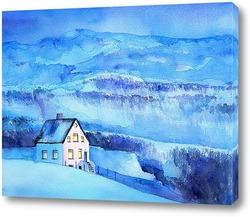 Дом в синих горах