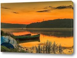 Постер Река в закат