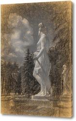Постер Скульптура на постаменте.