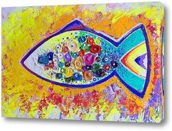 Постер Счастливая рыба