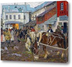 Картина Сельский рынок. 1914