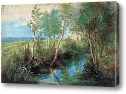 Картина Пейзаж с ручьем