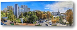 Постер Осенняя панорама центра города Сочи