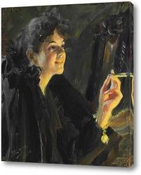 Картина Девушка с сигаретой