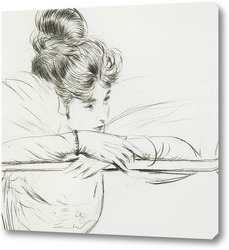 Картина Задумчивая леди