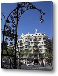 Барселона. Панорама на стену