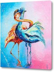 Постер Влюблённые фламинго