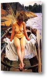 Картина В лодке Вернера
