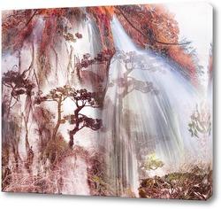 Постер Пейзаж с водопадом