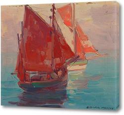 Картина Рыболовные лодки