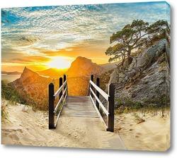 Постер Рассвет в горах