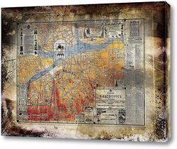 Картина План Санкт-Петербурга, 1903 год