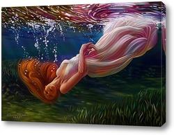 Картина Девушка под водой