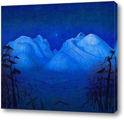 Картина Зимняя ночь в горах