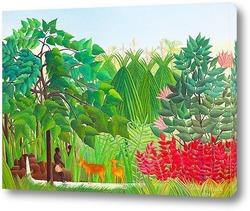Девочки в лиственном лесу