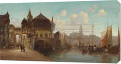 Картина Портовый город