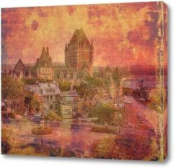Постер  Замок Фронтенак в Старом городе Квебек