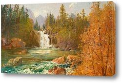 Постер Водопад на реке Красный Орел