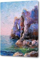 Постер Скалистый берег