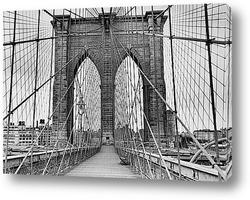 Строительство Манхэттенского моста.