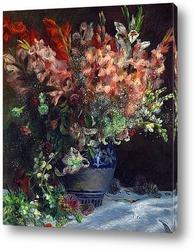Картина Гладиолусы в вазе