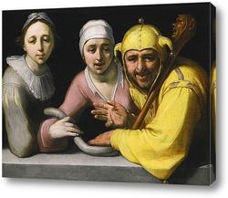 Картина Дурак с двумя женщинами, 1595