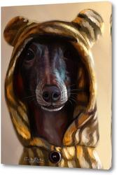 Картина Собака-тигренок 9левретка)