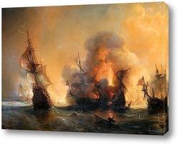 Адмирал Андреа Дора рассеивает испанский флот близ Вара