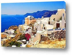 Постер Beautiful landscape view (Santorini Island, Greece)