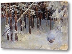 Лес зимой. 1880-е