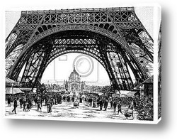 Постер Paris - Eiffel Tower - 19th century