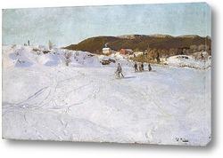 Картина Зима в Вестре Акер