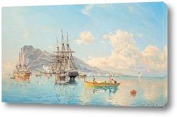 Шведский военно-морской фрегат в Гибралтаре