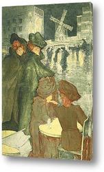 Картина Белая Площадь (Четыре жены)