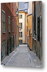 Зима в Старом Городе, в Стокгольме, Швеция