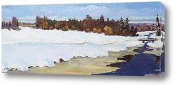 Картина Река под снегом