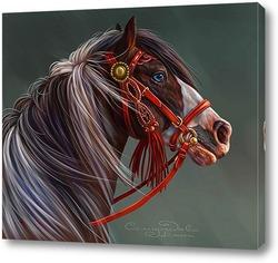 Картина Пегий конь
