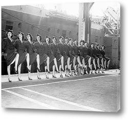 Велосипедная стоянка,1946г.