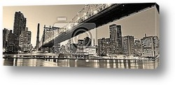 New York City Manhattan skyline Brooklyn Bridge panorama