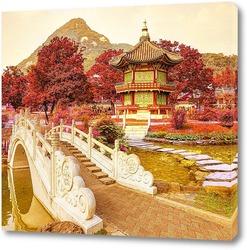 Постер Ажурный мост  и Пагода