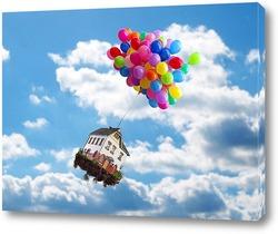 Постер Летающий дом
