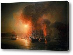 Морской бой между французским и английским фрегатами Эмбускадом