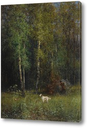 Картина Охота в лесу