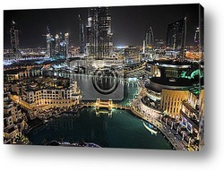 Постер Dubai Downtown with Burj Khalifa