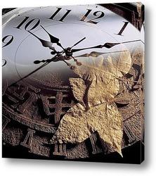 Постер Абстрактная картинка на стену с циферблатом часов